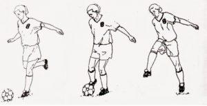 Teknik Menendang Bola Menggunakan Kaki Dalam