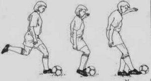 Teknik Menendang Bola Menggunakan Punggung Kaki
