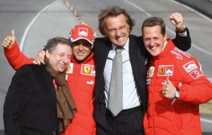 Michael Schumacher dan Tim Ferrarinya