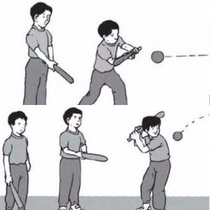 Teknik Memukul Bola Kasti