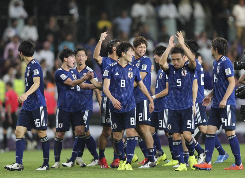 Timnas Jepang merayakan keberhasilannya menembus Final AFC Asian Cup 2019