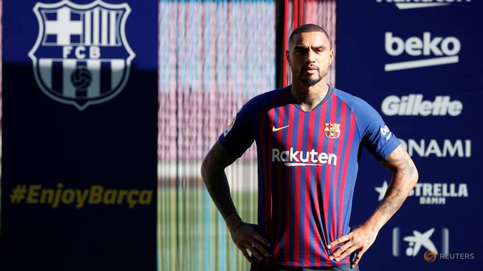 Kevin Prince Boateng Diperkenalkan sebagai pemain anyar Barcelona