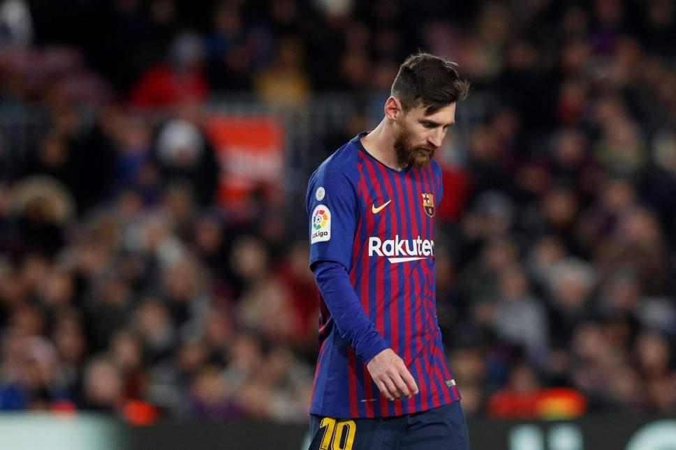Lionel Messi di laga melawan Valencia (Evening Standard)