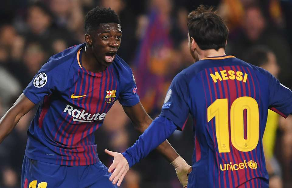 Ousmane Dembele dan Lionel Messi (Give me Sport)