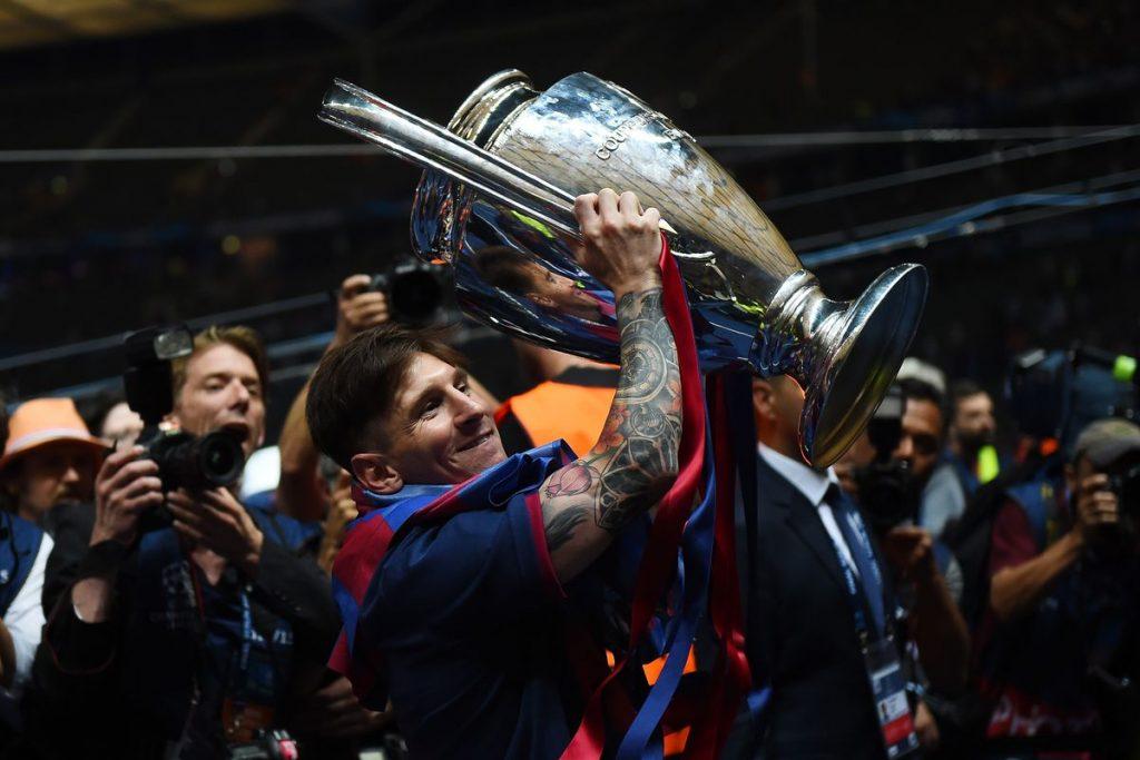 Lionel Messi saat bawa Barcelona menjuarai Liga Champions