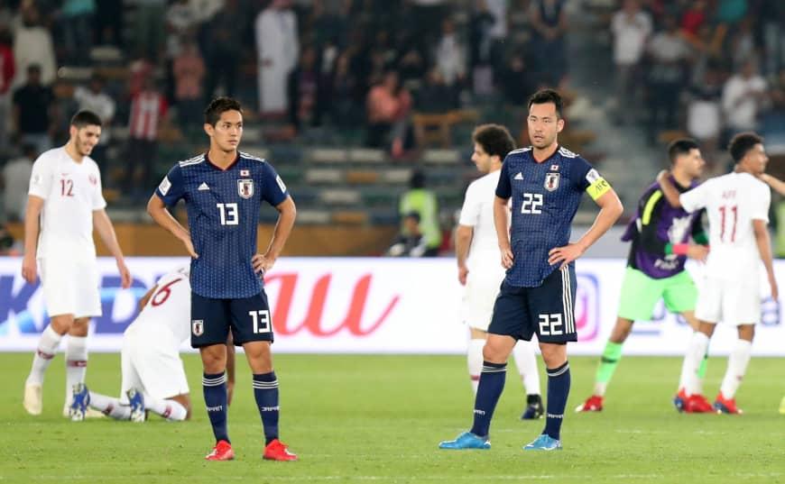 Ekspresi kekecewaan Kapten Timnas Jepang, Maya Yoshida usai Jepang takluk 1-3 (Japantimes)