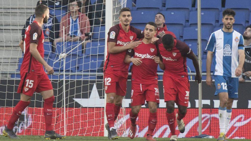Wissam Ben Yedder menjadi pahlawan kemenangan Sevilla atas Espanyol