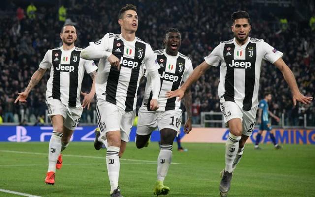 Selebrasi Ronaldo saat bantu Juventus membalikan keadaan atas Atletico
