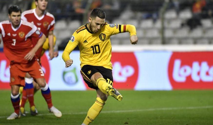 Eden Hazard pimpin Belgia tekuk Russia 3-1