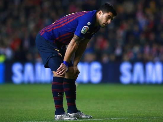 Cedera Suarez didapat saat laga melawan Real Betis