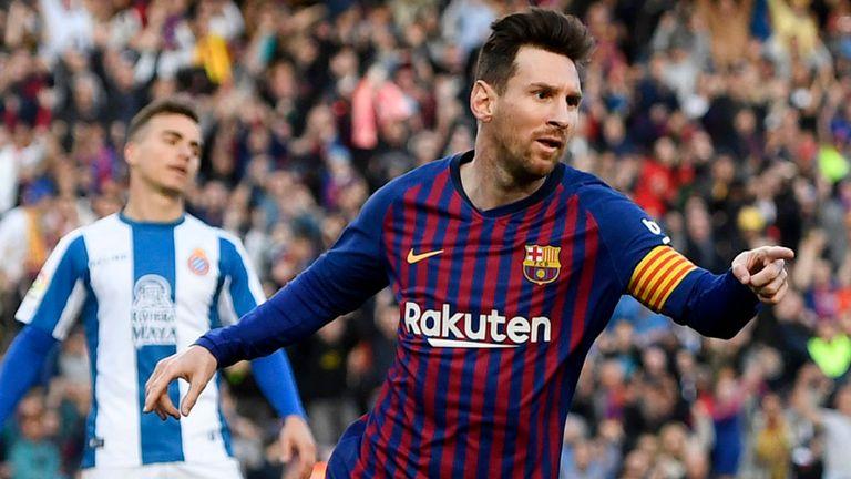 Lionel Messi jadi tokoh utama di balik kemenangan Barcelona atas Espanyol