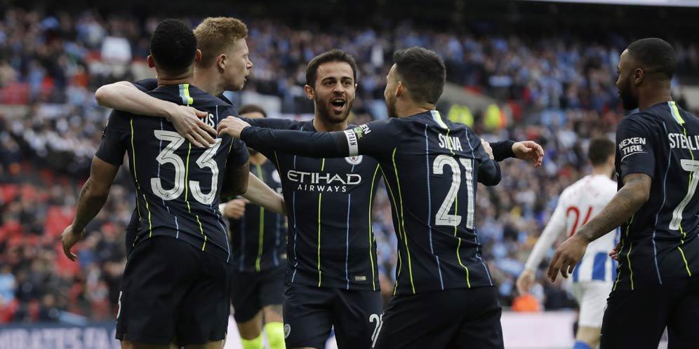 Manchester City Menang Atas Brighton di Piala FA