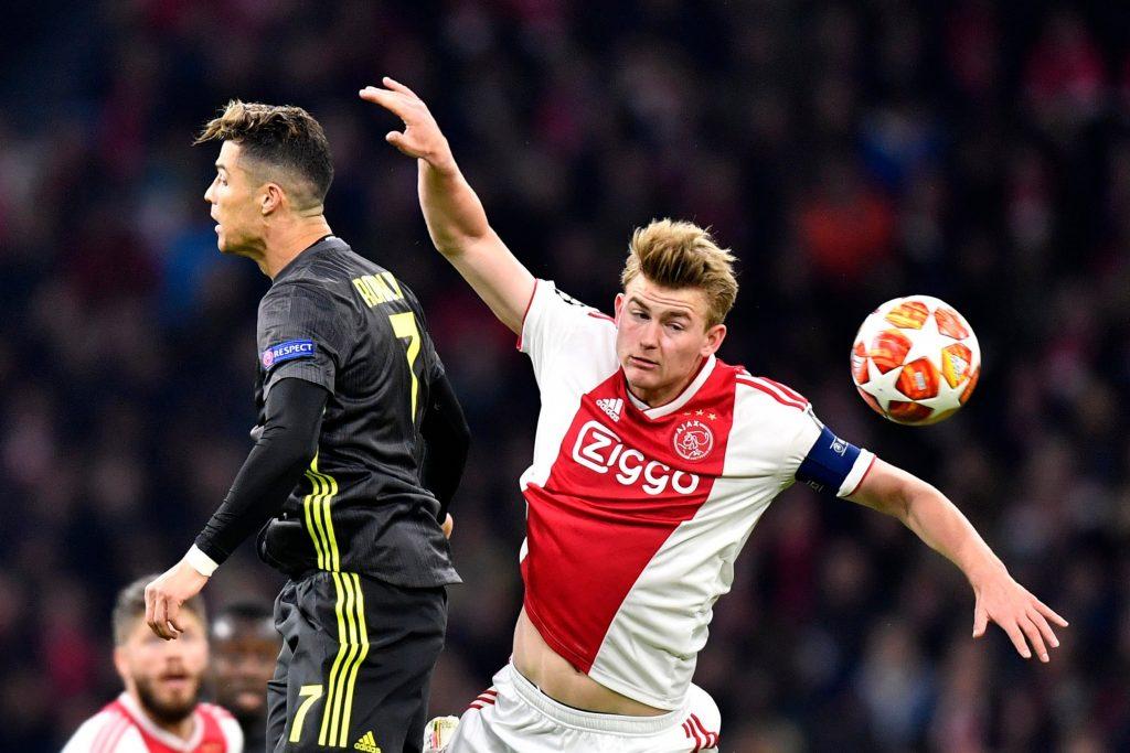 Duel Sengit antara Cristiano Ronaldo dan Matthijs De Ligt