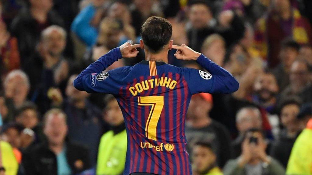 Selebrasi menutup telinga dari seorang Phillipe Coutinho