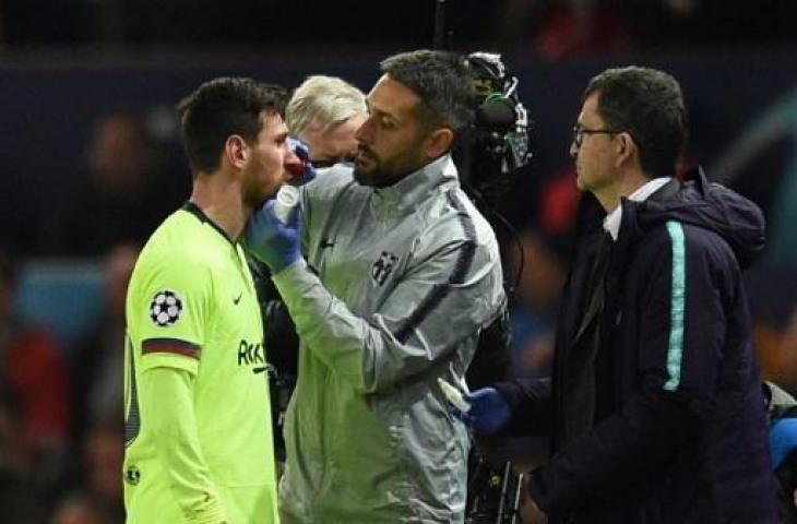 Sempat alami bentura di laga menghadapi MU, Messi akan diistirahatkan saat hadapi Huesca