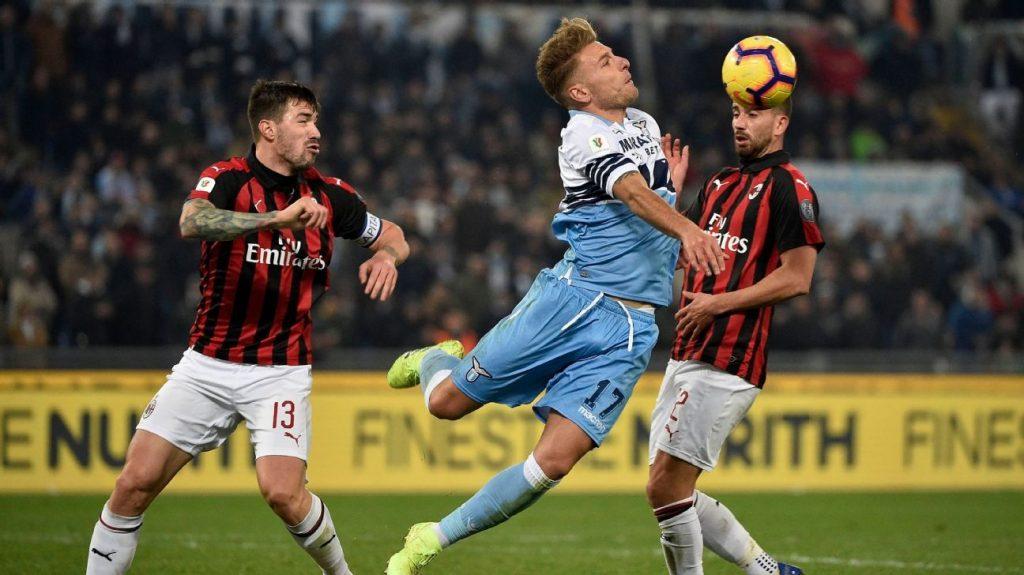 Duel antara Ciro Immobile dan Alessio Romagnoli