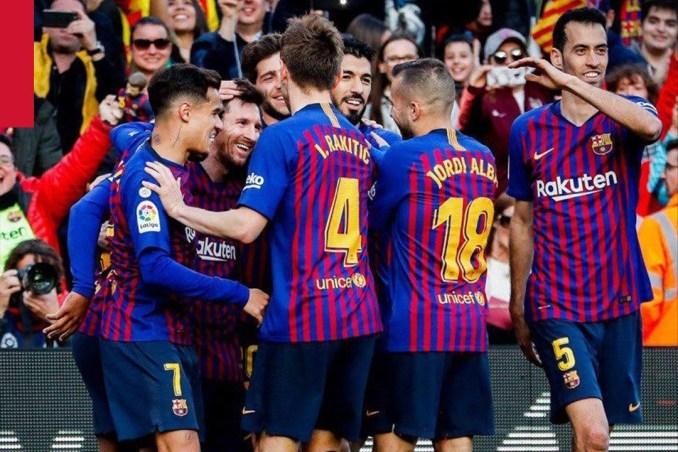 Kemenangan atas Espanyol buat Barca semakin dekat dengan gelar Juara Liga Spanyol