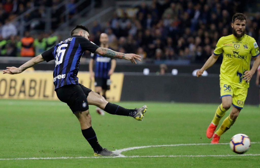 Matteo Politano buka keunggulan Inter di pertengahan babak pertama
