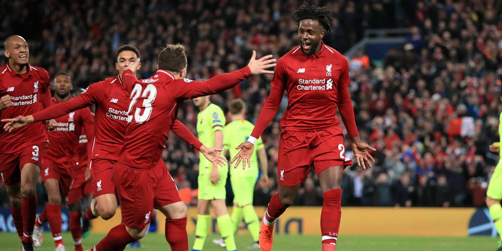 Liverpool Melaju Ke final Usai Tumbangkan Barcelona