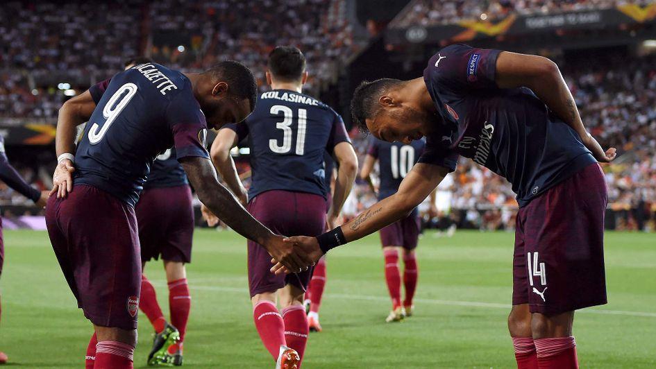 Alxander Lacazette dan Aubameyang jadi penentu kemenangan Arsenal